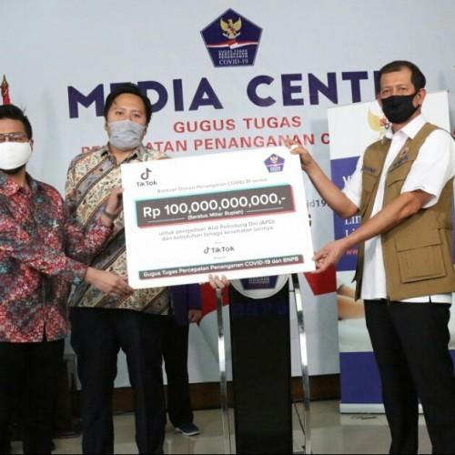 TikTok Donasikan Rp100 Miliar Bantu Tangani Covid-19 di Indonesia