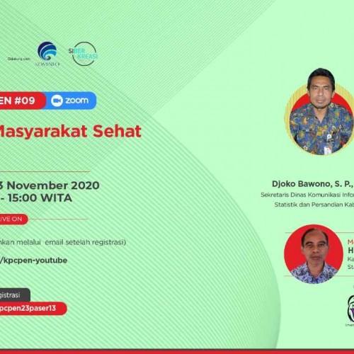"""KPCPEN – Kominfo Gelar Webinar di Paser, """"Vaksin Aman, Masyarakat Sehat"""""""