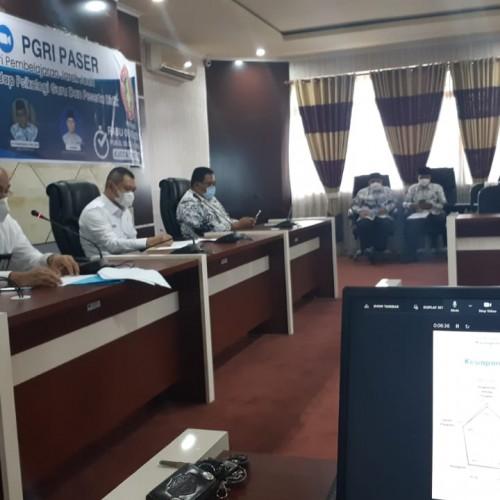 Fasilitasi Kegiatan Seminar Online yang digelar oleh PGRI Kabupaten Paser