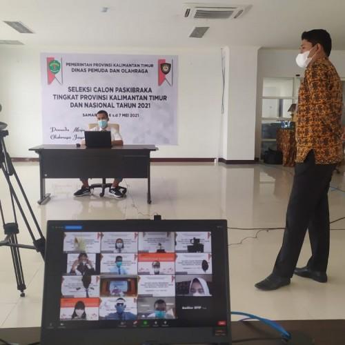 Fasilitasi Seleksi Calon Paskibraka Tingkat Provinsi Kalimantan Timur dan Nasional Tahun 2021