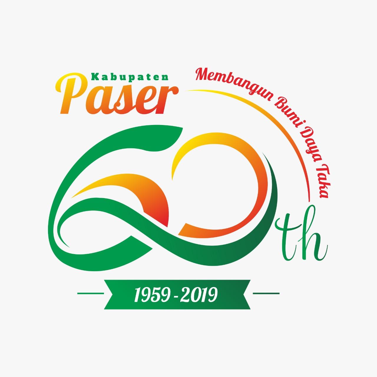 logo HUT ke-60 Kabupaten Paser
